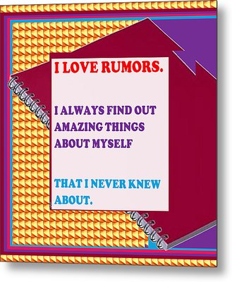Wisdom Quote Rumors Artistic  Background Designs  And Color Tones N Color Shades Available For Downl Metal Print