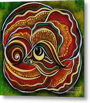 Metal Print featuring the painting Wisdom Spirit Eye by Deborha Kerr