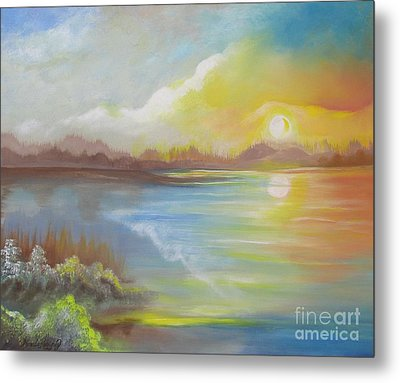 Metal Print featuring the painting Wish You Were Here. by Nereida Rodriguez