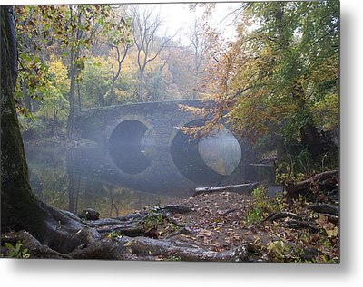 Wissahickon Creek And Bells Mill Road Bridge Metal Print by Bill Cannon
