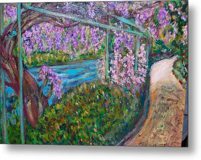 Wisteria Metal Print by Carolyn Donnell