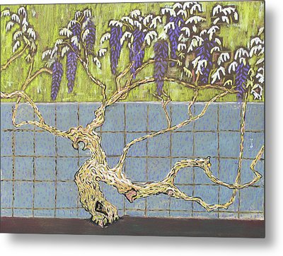 Wisteria Metal Print by Don Perino