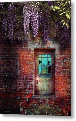 Wisteria Door Metal Print