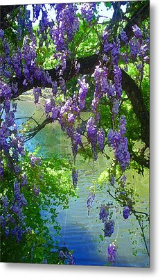 Wisteria Over Turtle Creek Metal Print