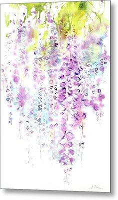 Wisteria Watercolor Version Metal Print