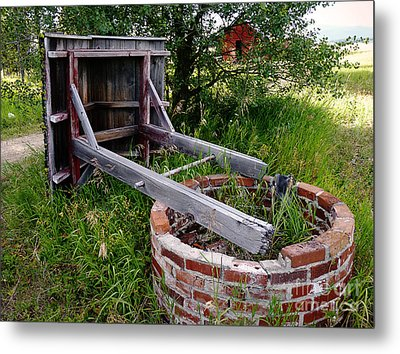 Wistful Well Metal Print