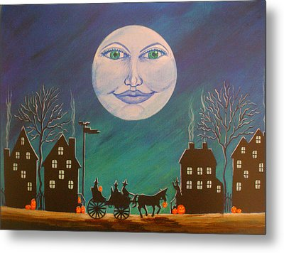 Witch Moon Metal Print by Christine Altmann