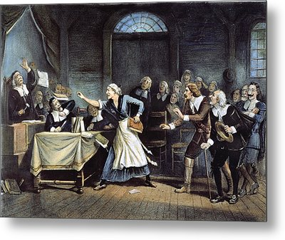 Witch Trial Metal Print by Granger