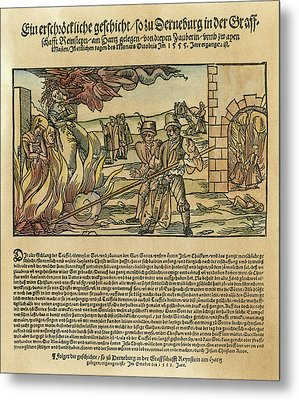 Witches, 1555 Metal Print by Granger