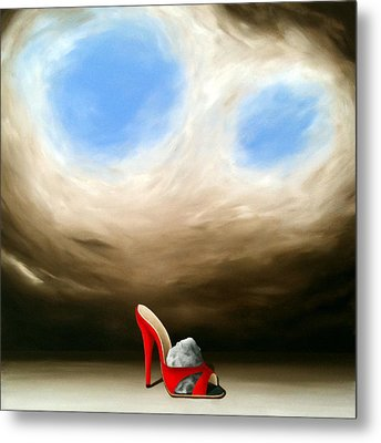 Metal Print featuring the painting With A Stone In My Shoe by Ric Nagualero