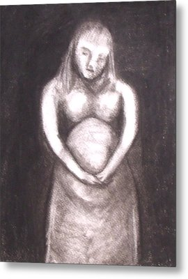 With Child Metal Print