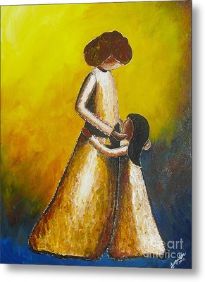 Metal Print featuring the painting With Her by Jacqueline Athmann