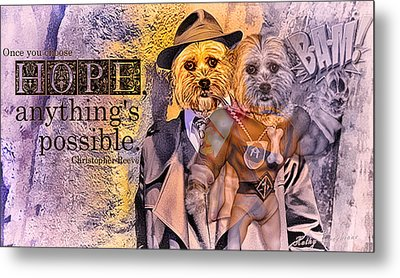 With Hope Anything Is Possible 3 Metal Print by Kathy Tarochione