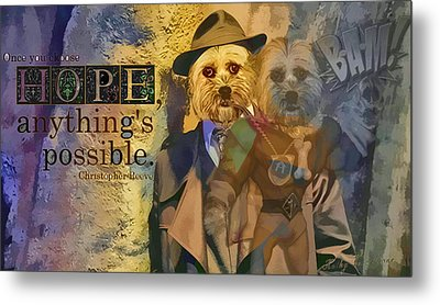 Metal Print featuring the digital art With Hope Anything Is Possible 5 by Kathy Tarochione