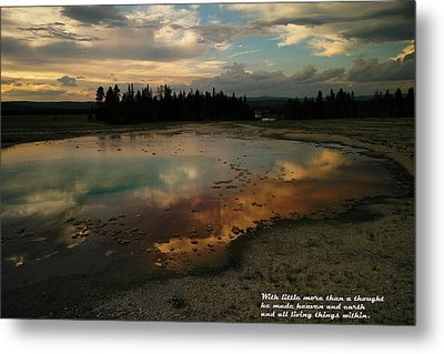 With Little More Metal Print by Jeff Swan