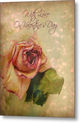 With Love On Valentine's Day Metal Print by Shirley Sirois