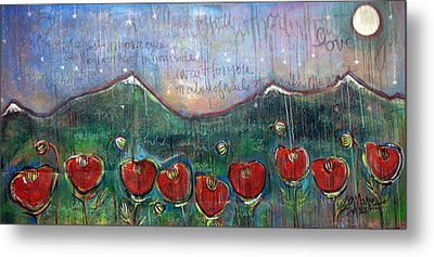 With Or Without You Metal Print by Laurie Maves ART