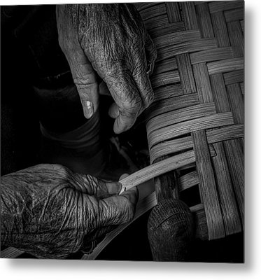 With These Hands Metal Print