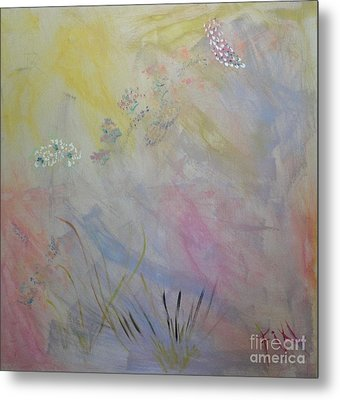Metal Print featuring the painting Withered Kansas Summer by PainterArtist FIN