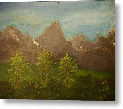 Within The Mountains Metal Print by Joshua Massenburg