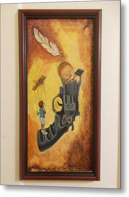 Without Wings Metal Print by Carlos Rodriguez Yorde