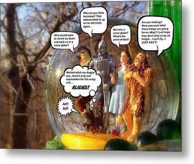 Wizard Of Oz Humor IIi Metal Print by Aurelio Zucco