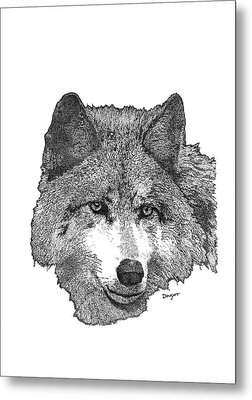 Wolf 1 Metal Print
