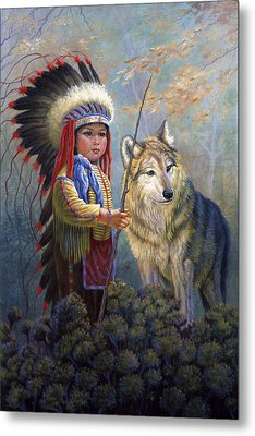 Wolf Boy Metal Print by Gregory Perillo