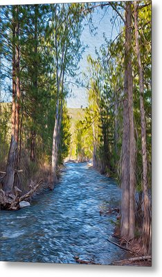 Wolf Creek Flowing Downstream  Metal Print by Omaste Witkowski