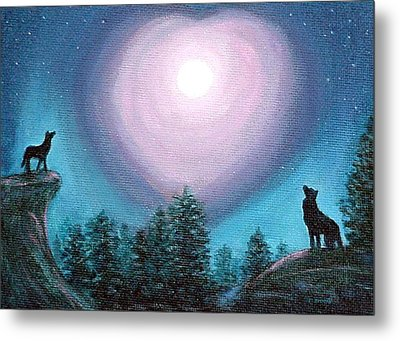 Wolf Heart Song Metal Print by Fran Brooks