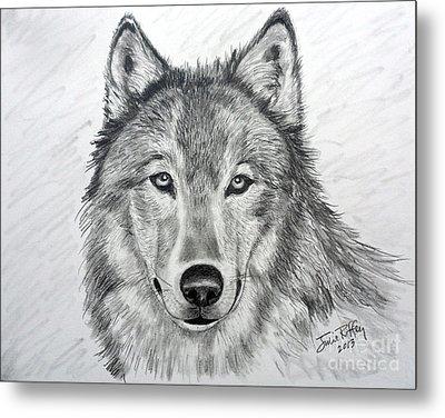 Wolf Metal Print by Julie Brugh Riffey