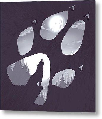 Wolf Paw Metal Print