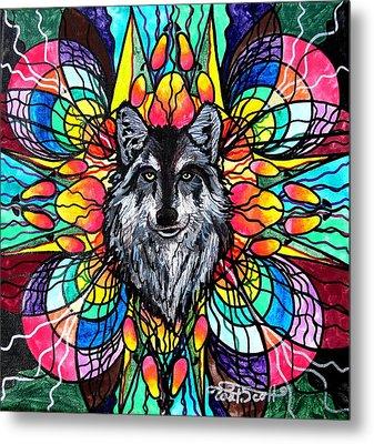 Wolf Metal Print by Teal Eye  Print Store