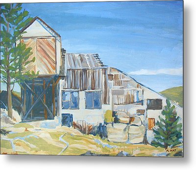 Wolf Tongue Mine Mill Metal Print by Al Hart