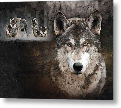 Wolf Gang Metal Print