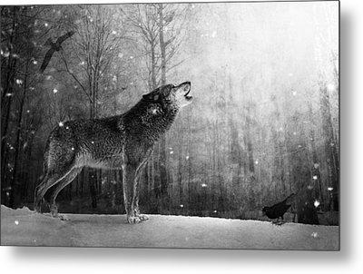 Wolfheart Metal Print by Marc Huebner