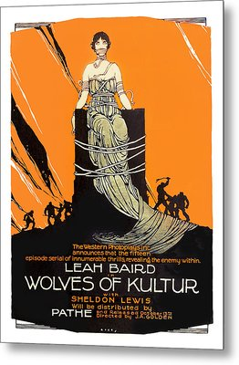 Wolves Of Kultur 1918 Movie Poster Metal Print by Vintage Product Ads
