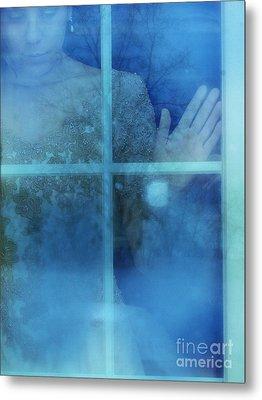 Woman At A Window Metal Print by Jill Battaglia