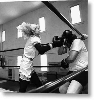 Woman Boxer Metal Print by Underwood Archives