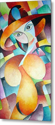 Metal Print featuring the painting Woman by Dorothy Maier
