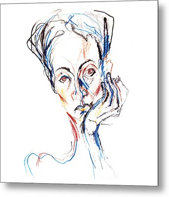 Woman Expression Metal Print