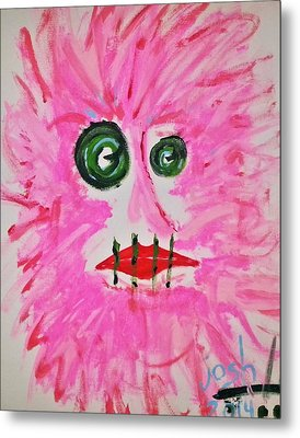 Woman In Abstract Simplicity Metal Print by Yshua The Painter