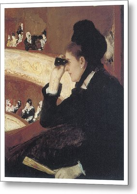 Woman In Black At The Opera Metal Print by Mary Cassatt