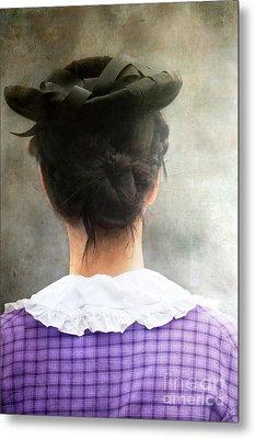 Woman In Black Hat Metal Print by Stephanie Frey
