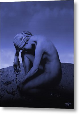 Woman In Chains Metal Print