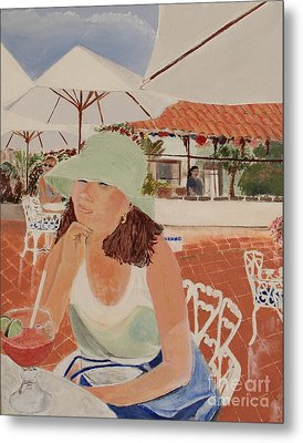 Woman In Mazatlan Metal Print by Debra Chmelina