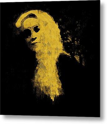 Woman In The Dark Metal Print by Pepita Selles