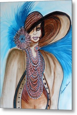 Woman Lost Metal Print by Suzanne Thomas