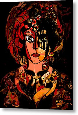 Woman Of Mystery Metal Print by Natalie Holland