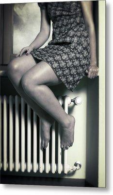 Woman On Window Sill Metal Print by Joana Kruse